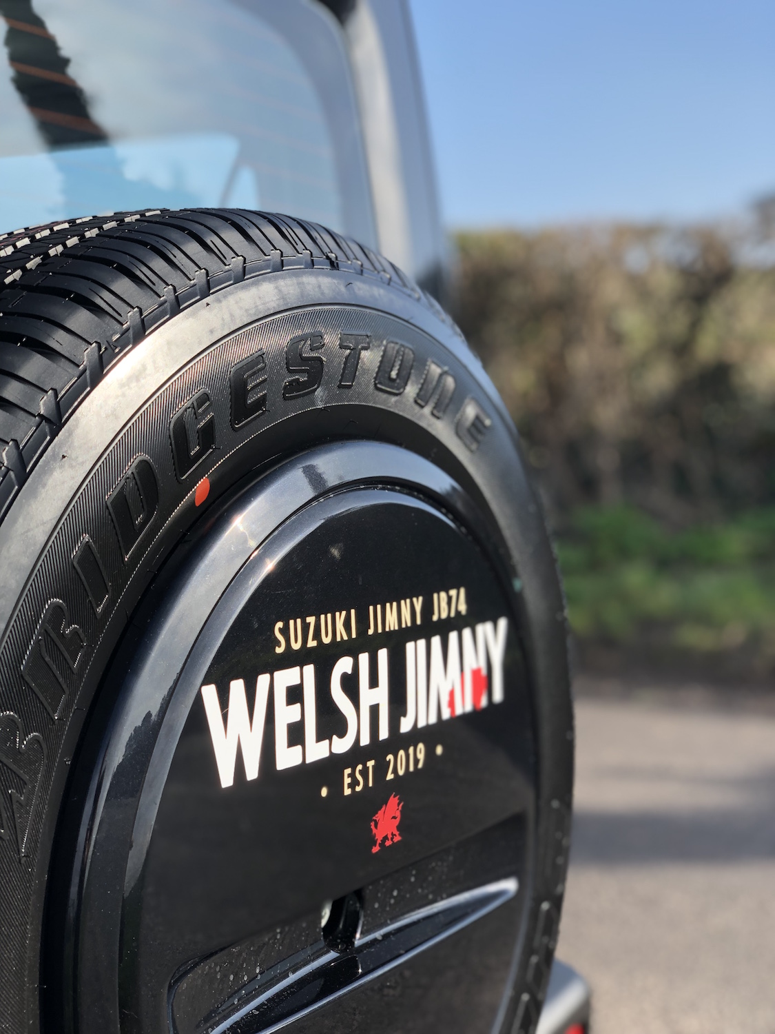 Welsh Jimny rear wheel sticker   £15 + shipping  - (currently out of stock)