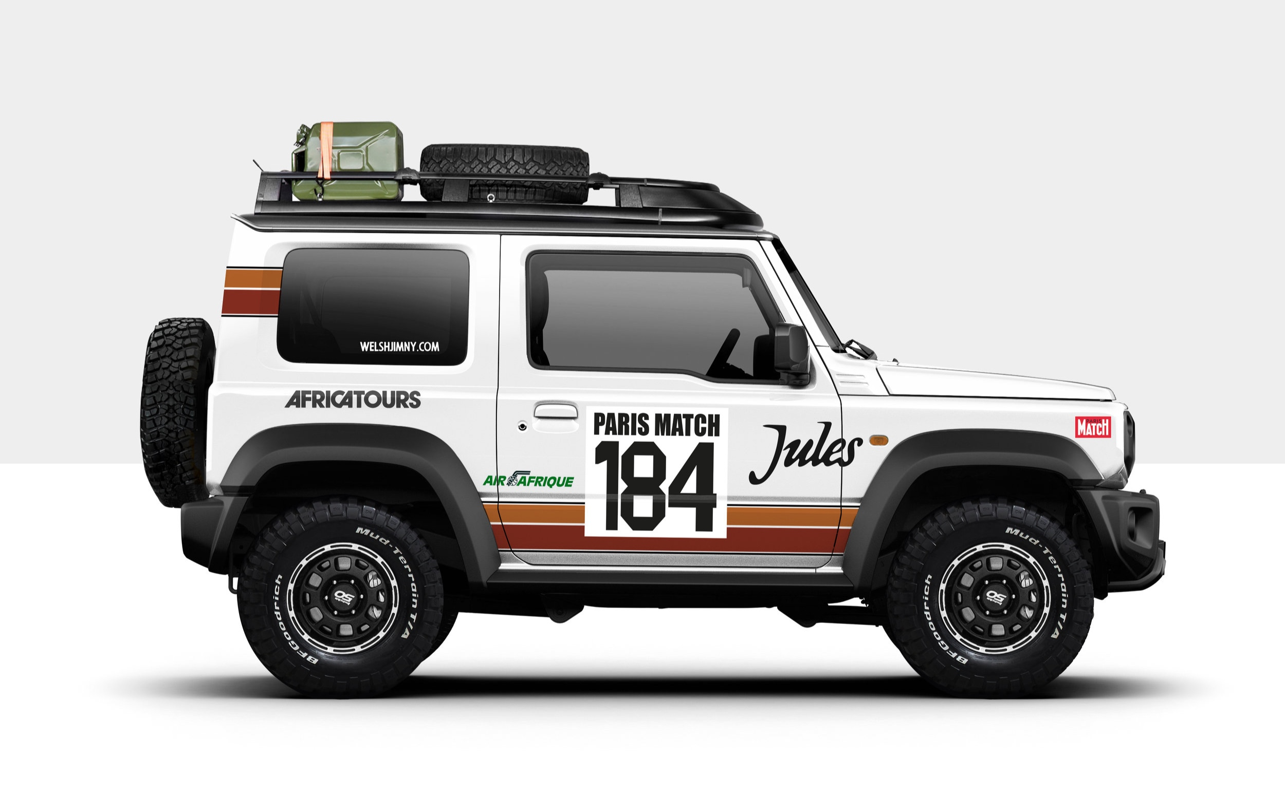 1981 Paris-Dakar Rolls-Royce Corniche Livery