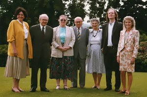 NIASP Founders at Malone House Conference with Joseph Sandler (2nd from left) and Anne-Marie Sandler (3rd from right)