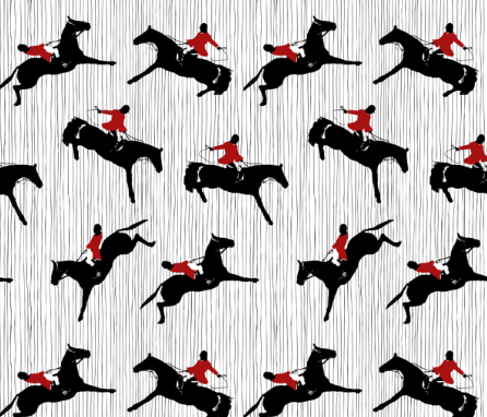 Hunt Horses and Stripes