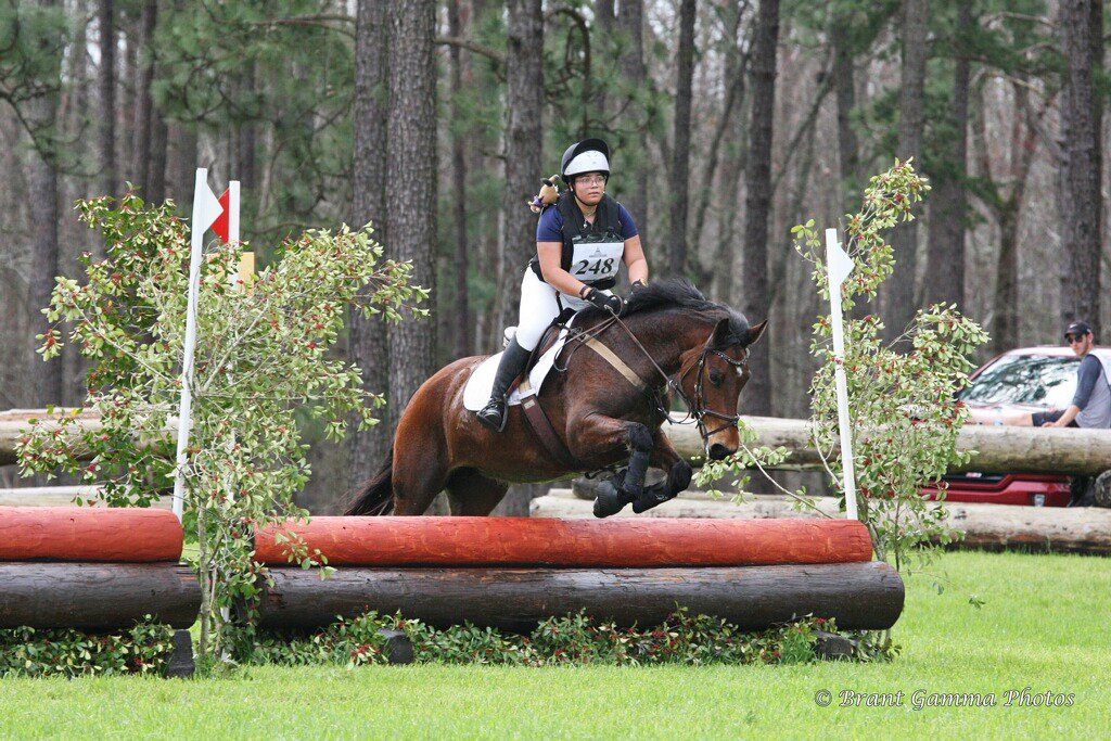 Morgan and Rose hit XC at the Carolina Horse Park  [Photo by Brant Gamma Photo]