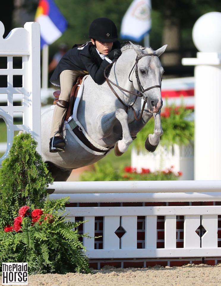 'Bed Head Ned' and Marissa Santaniello at Pony Finals 2017