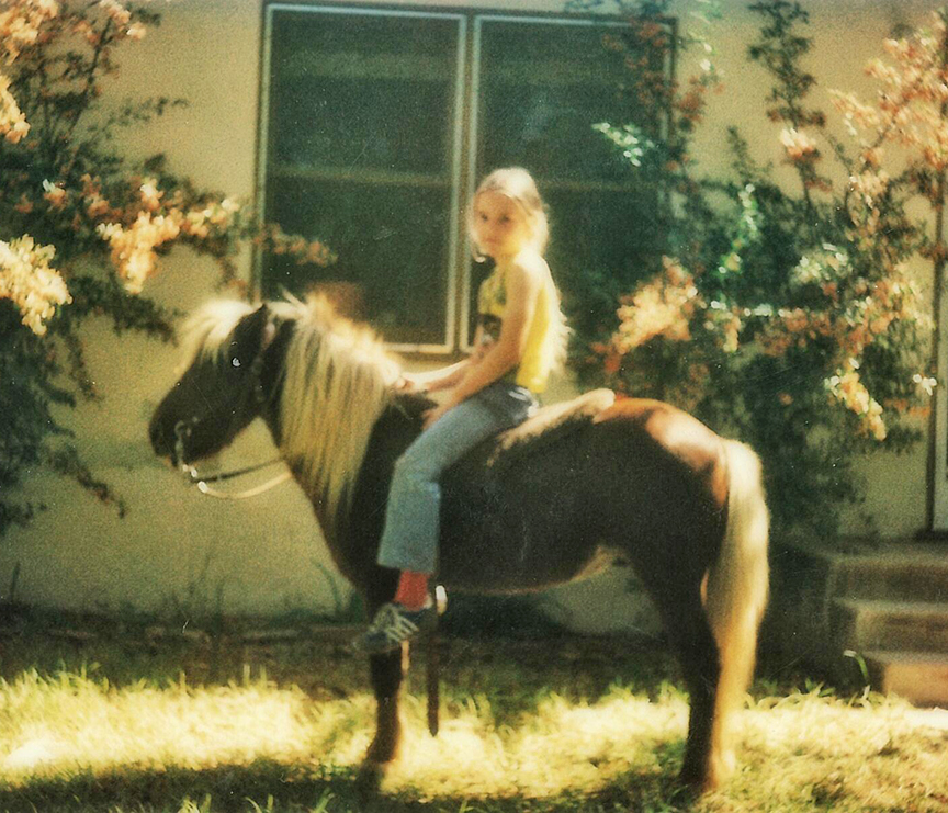 Zena Byrne and her first pony