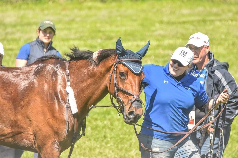 Emma and Z cooling out Kentucky Three Day Event 2018 | PC: JJ Sillman