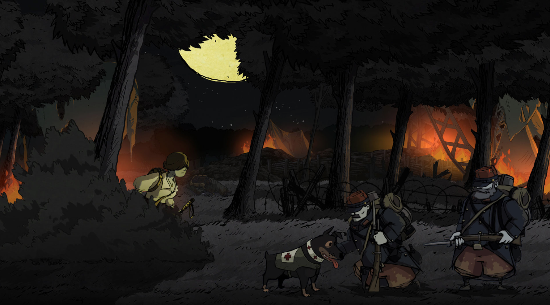 You can pet the dog in Valiant Hearts