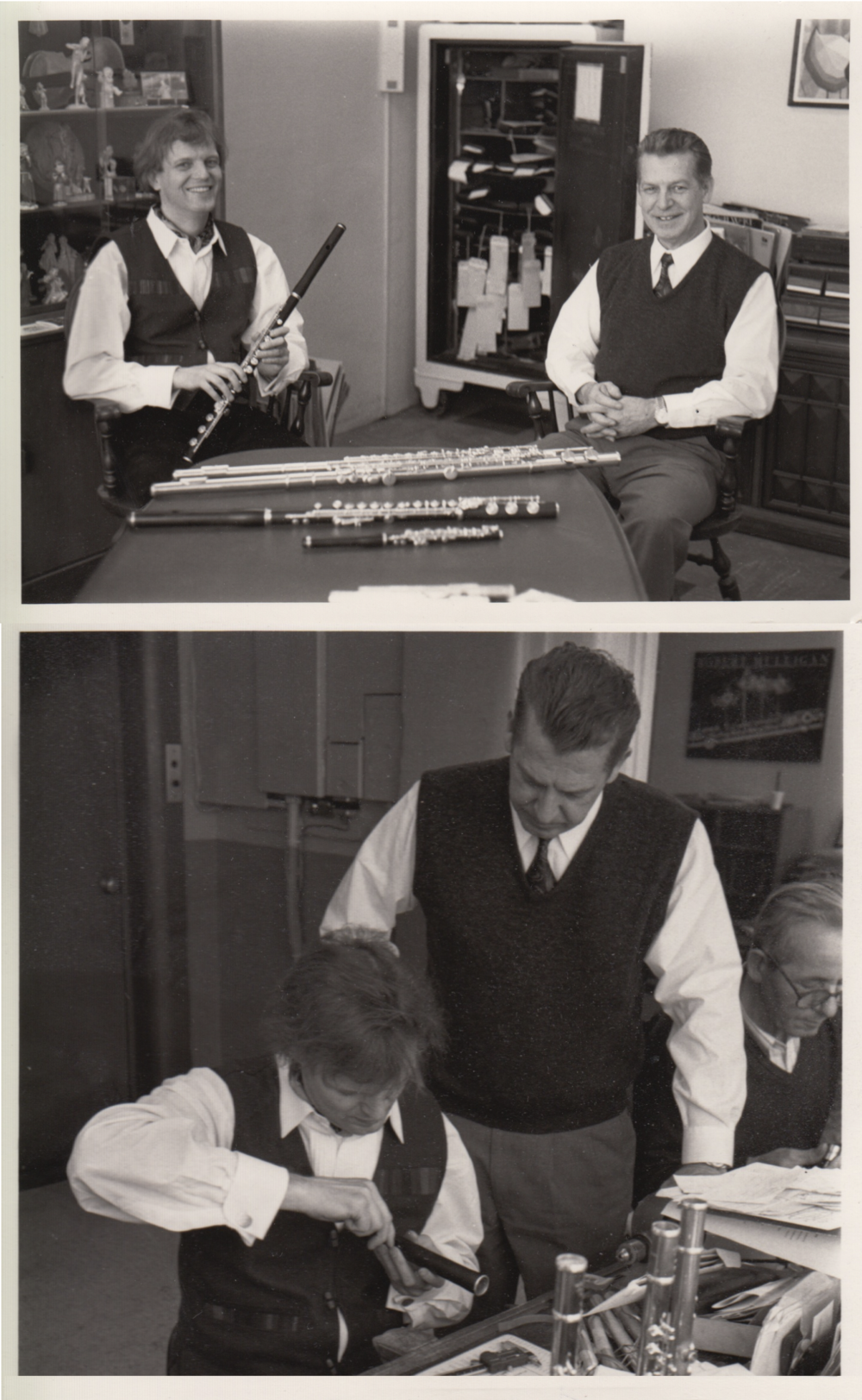 1993 – Lewis Deveau dies, company passes to his widow, Anne Deveau1995 – Anne Deveau dies, company passes to foreman, John C. Fuggetta (known as 'Charlie')1995 – First 14k White Gold Haynes Flute #49950 is produced. 1998 – Collaboration with Jacques Zoon on a wooden flute begins, a limited number were produced. (Jacques pictured with John Fuggetta.)2001 – John C. Fuggetta dies - the Fuggetta family continues to operate the company. -