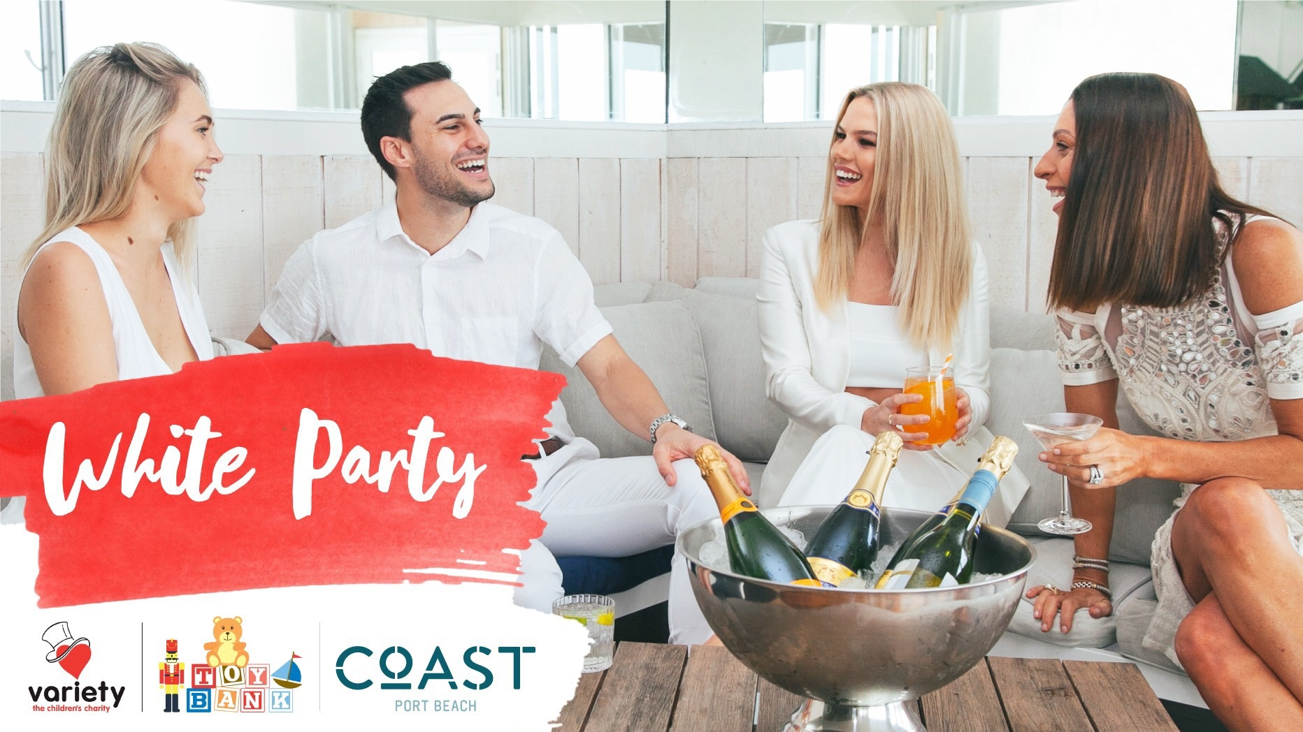 Variety+Toy+Bank+White+Party+at+Coast+Port+Beach
