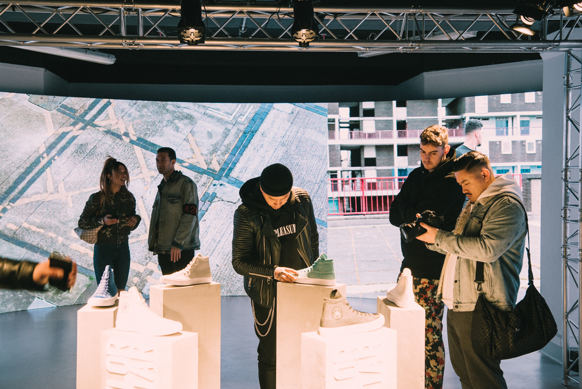 WHY - Nerds were tasked with delivering a brand experience that would bring the landmark Chuck Taylor All Star with Nike Flyknit product launch to life as a highly immersive, large scale multi-media cultural experience.