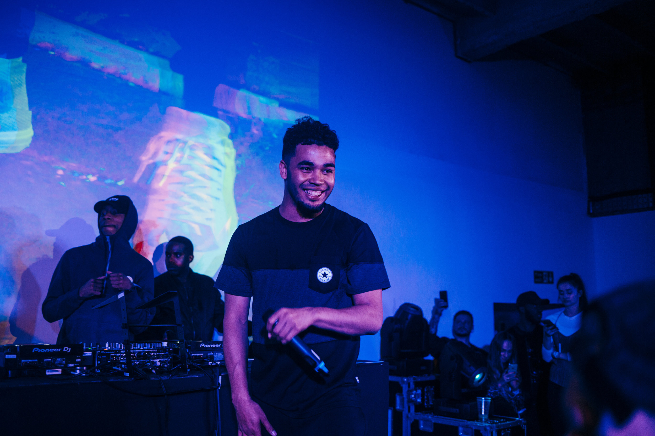 WHAT - Nerds delivered a multi-room experience in central London, creatively showcasing product and campaign videos at an epic scale within a warehouse setting where UK rap star Yungen and a supporting line-up delivered a high-energy performance.