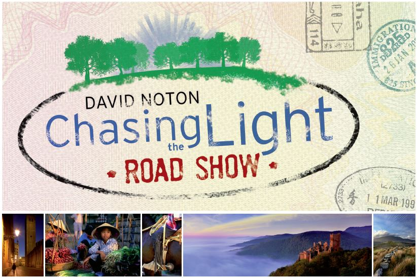 Get your Boarding Pass for David Noton's Chasing the Light Roadshow
