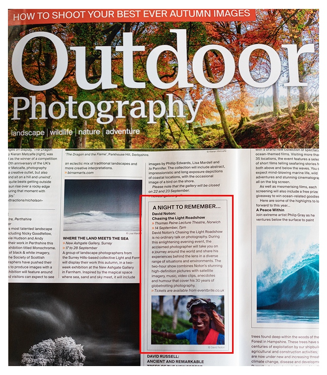 Image of article in Edition 248, Autumn 2019 of Outdoor Photography magazine
