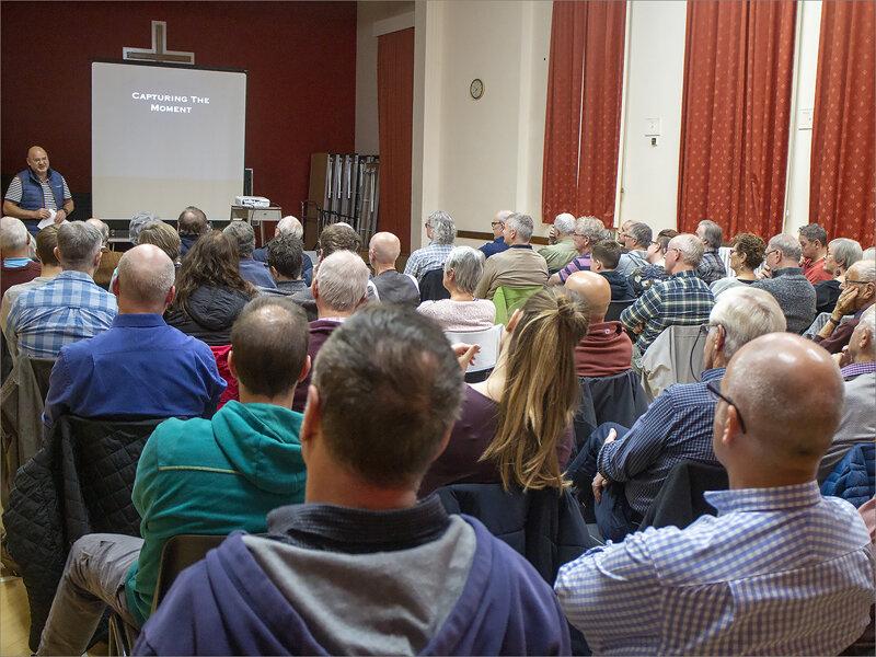 Full house at Chapel Field for Mark Pain's talk