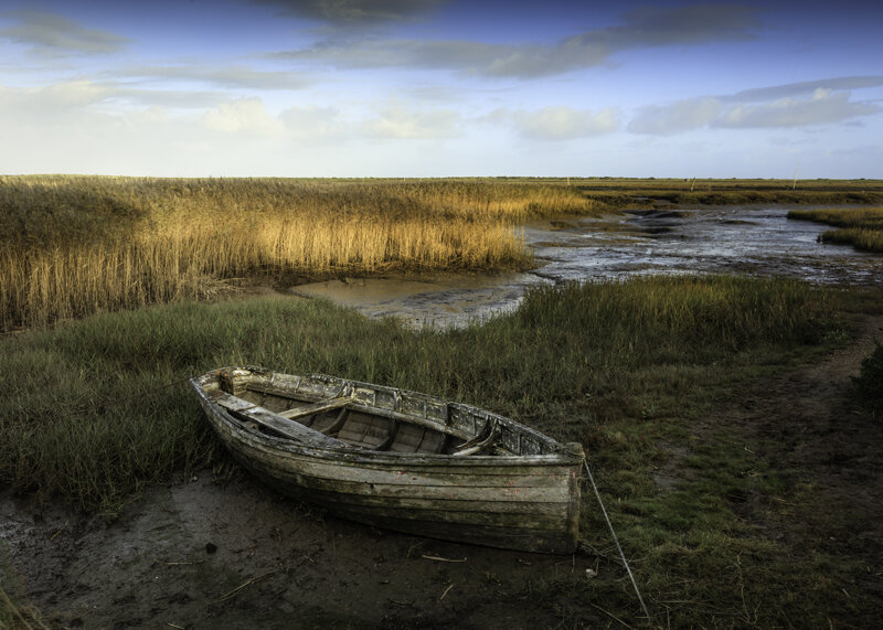 Old fishing boat at Brancaster Staithe