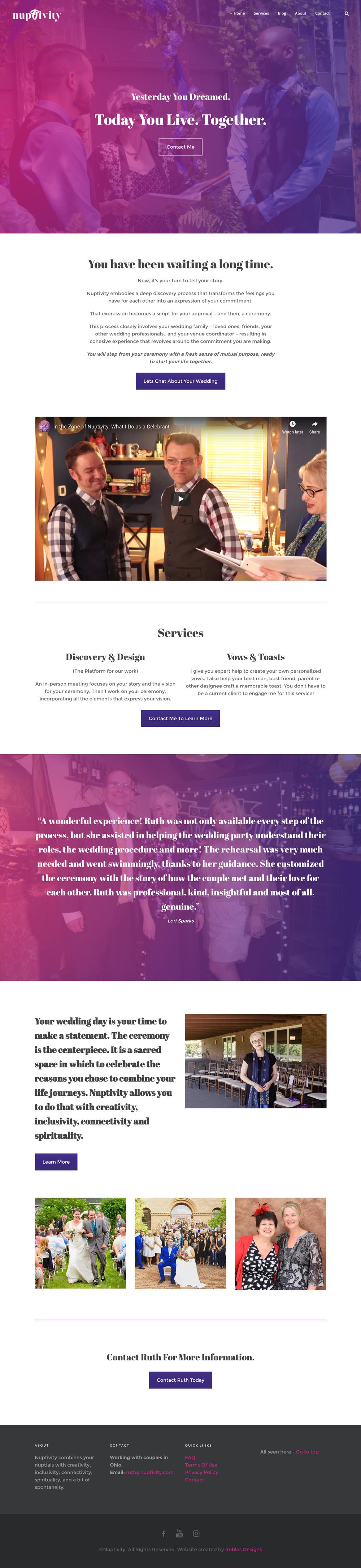 Nuptivity Website Design