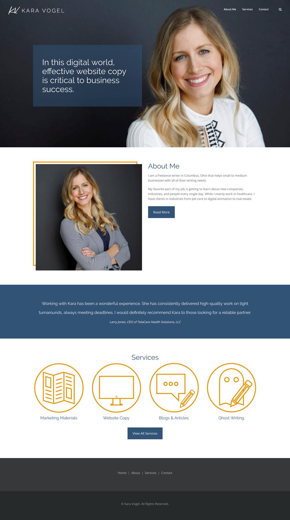 Kara Vogel Website