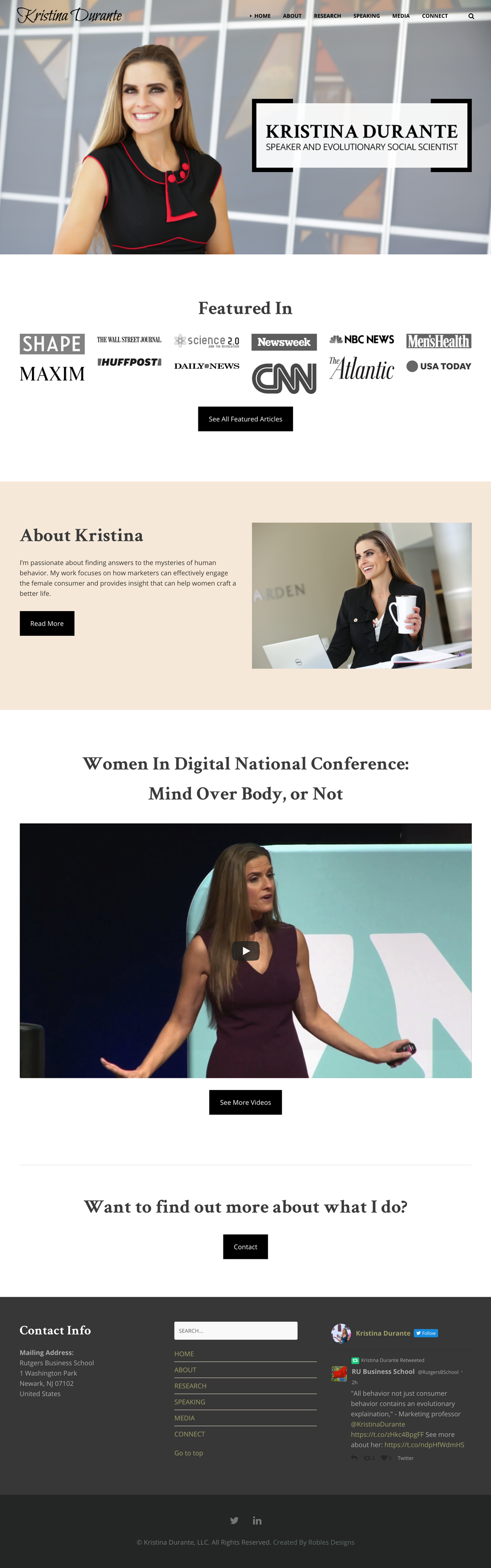 Kristina Durante Website