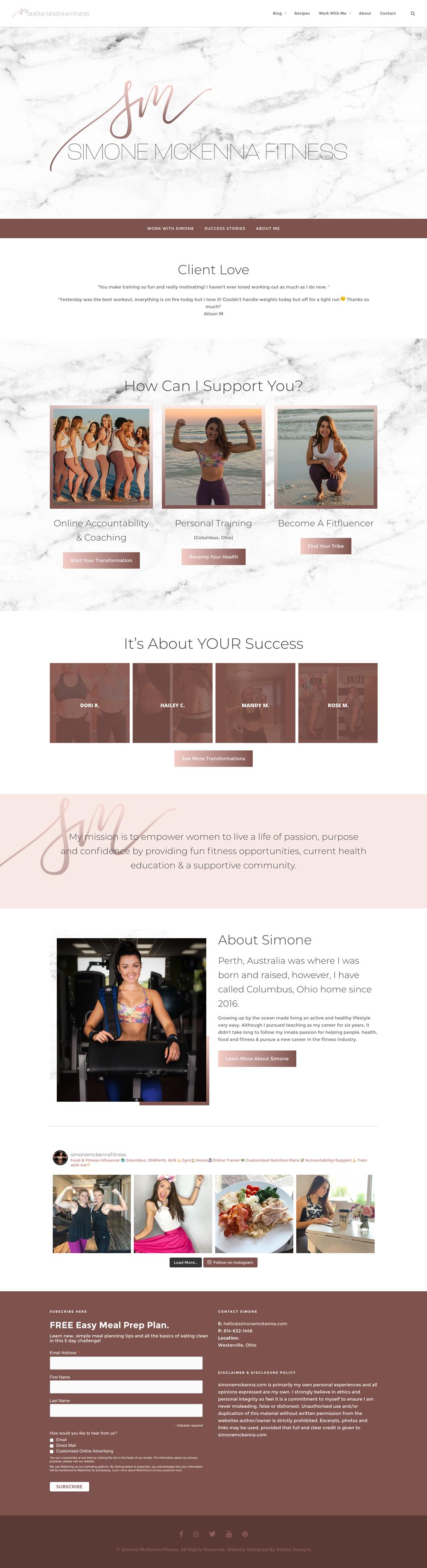 Simone McKenna Website