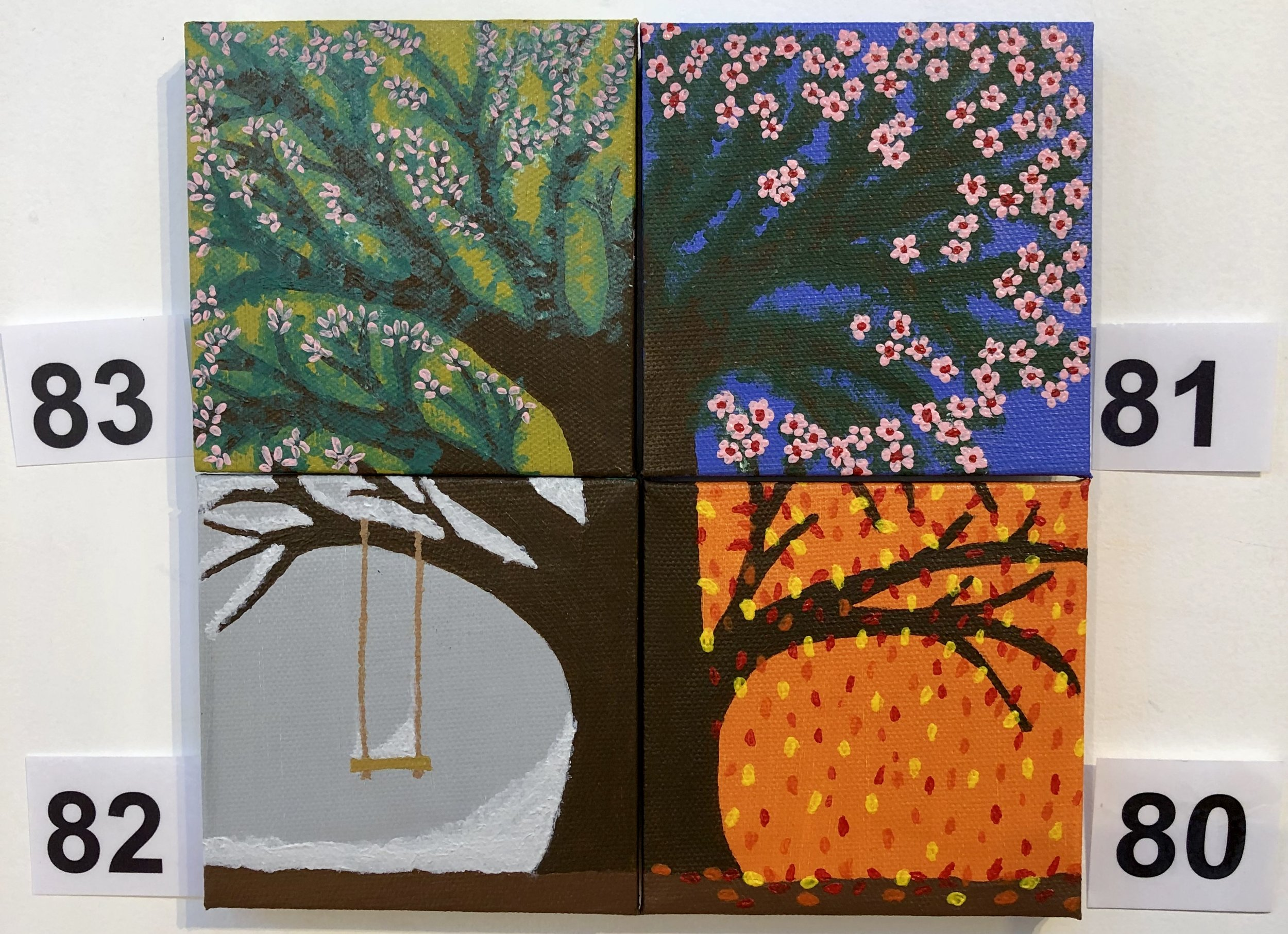 """Winter"", ""Spring"", ""Summer"" and ""Autumn"" by Sharene Grant"