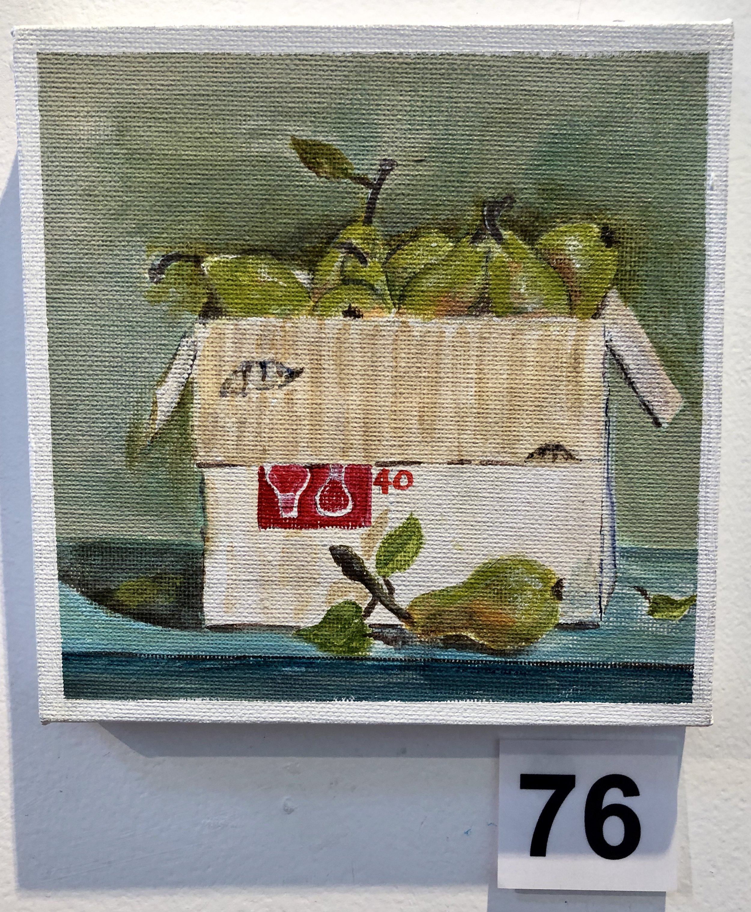 """Pears in box"" by Kaye Kirkland"