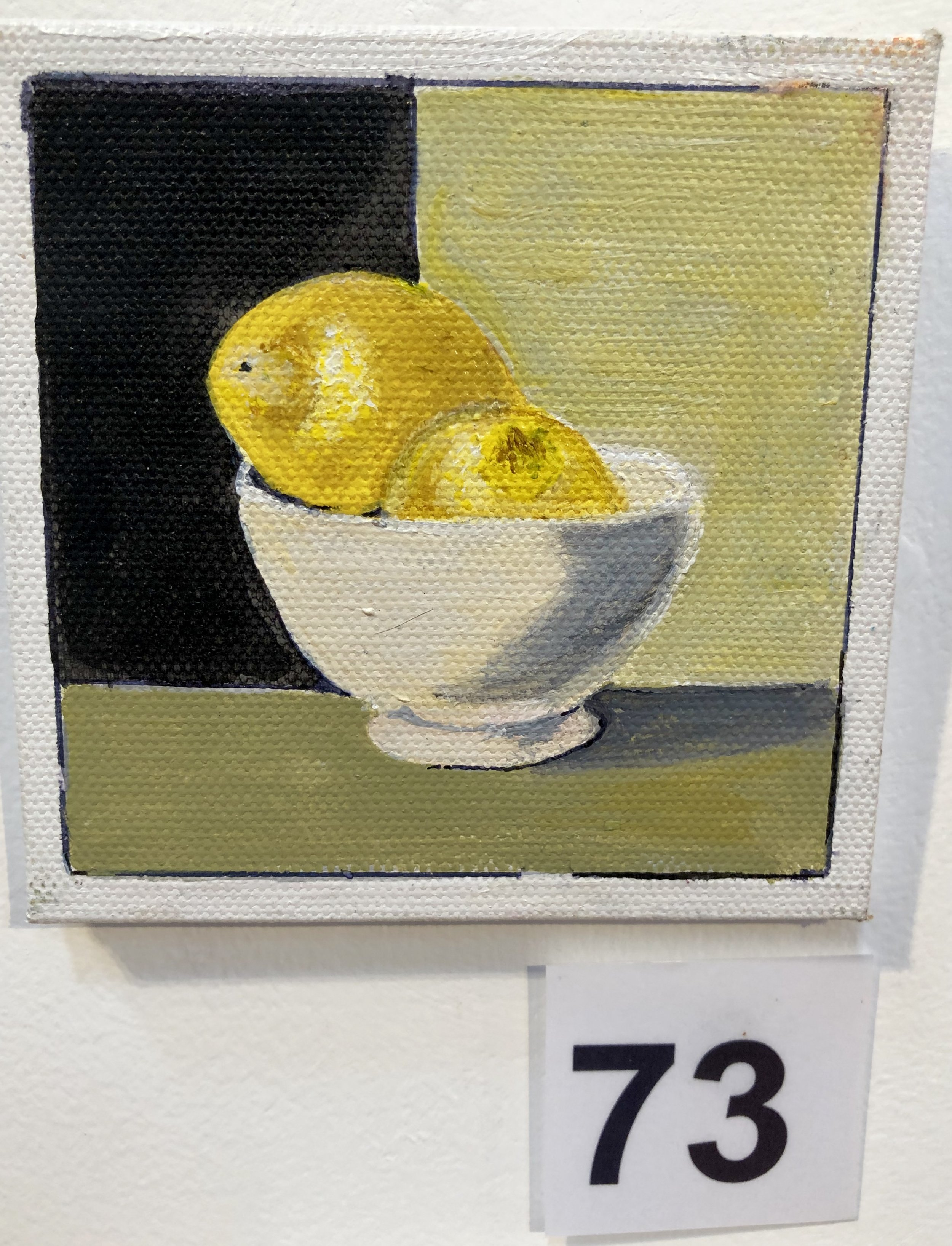 """Lemons in a white bowl"" by Kaye Kirkland"