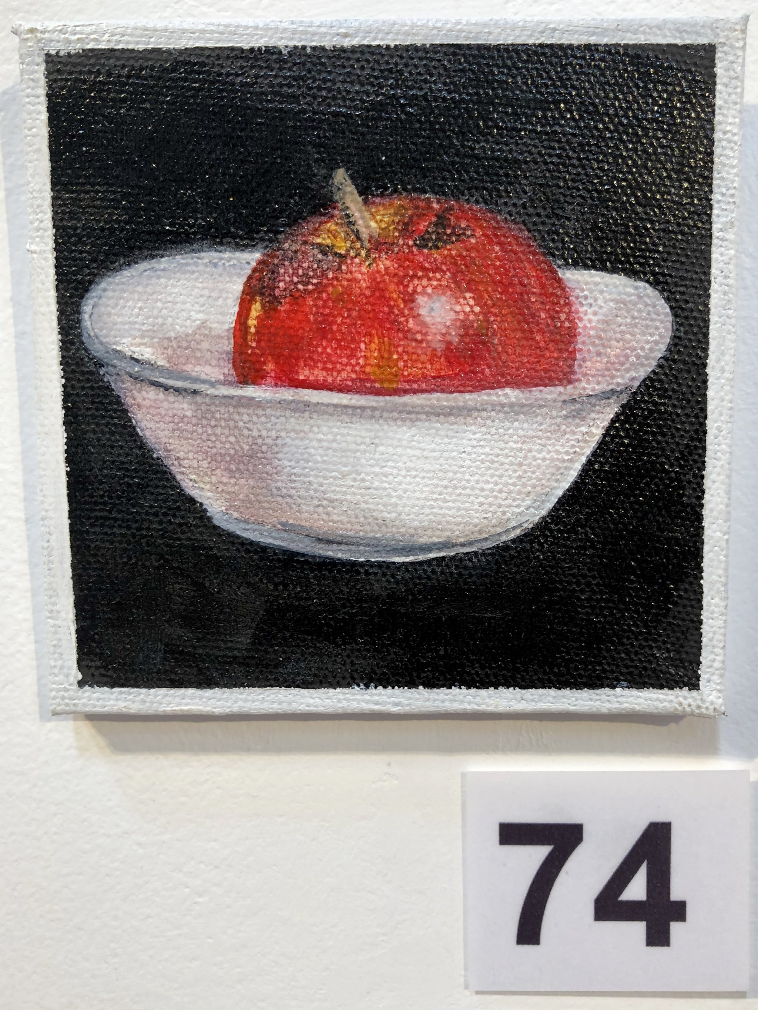 """Apple in a white bowl"" by Kaye Kirkland"