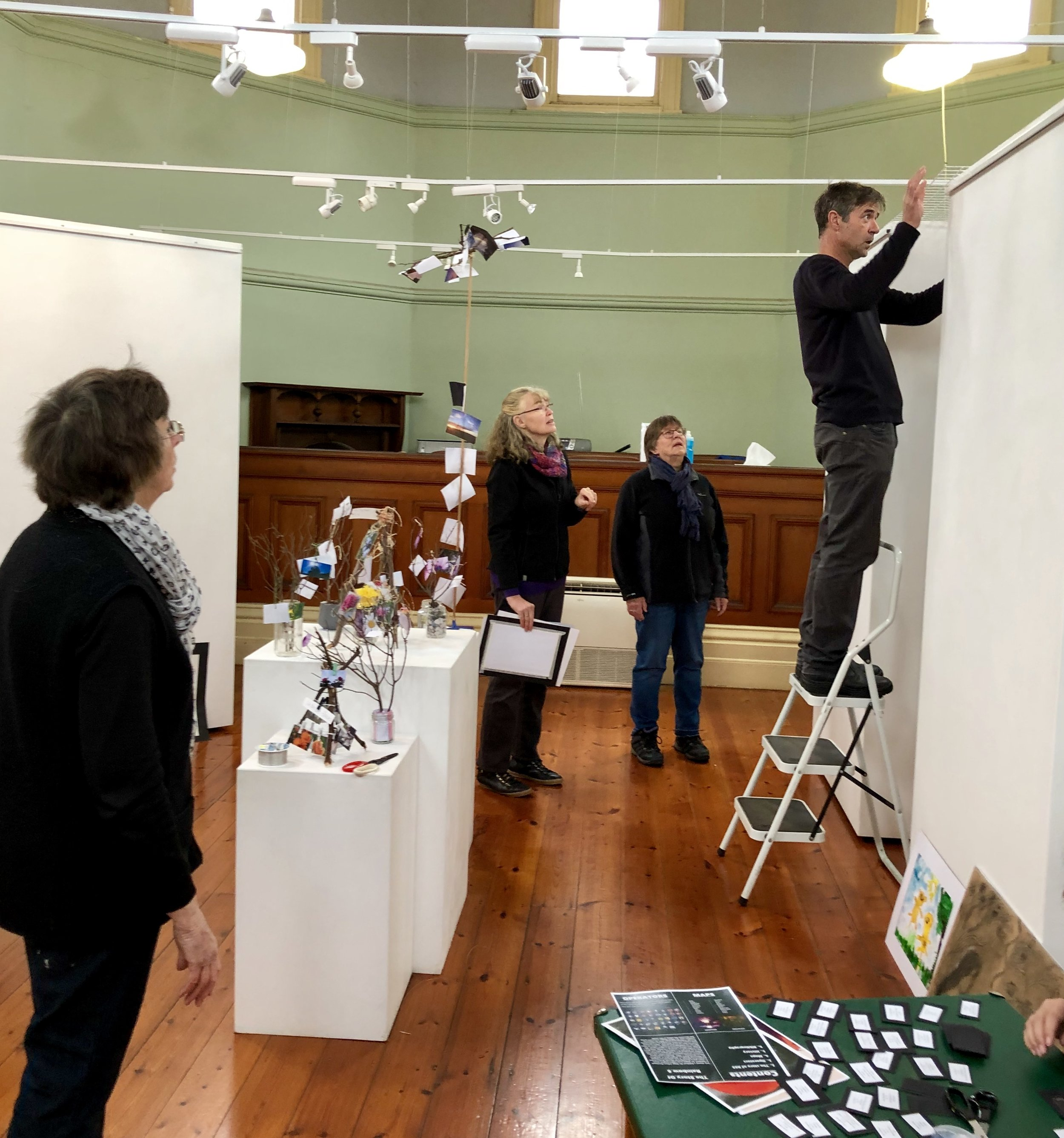 Exhibition Hanging Day
