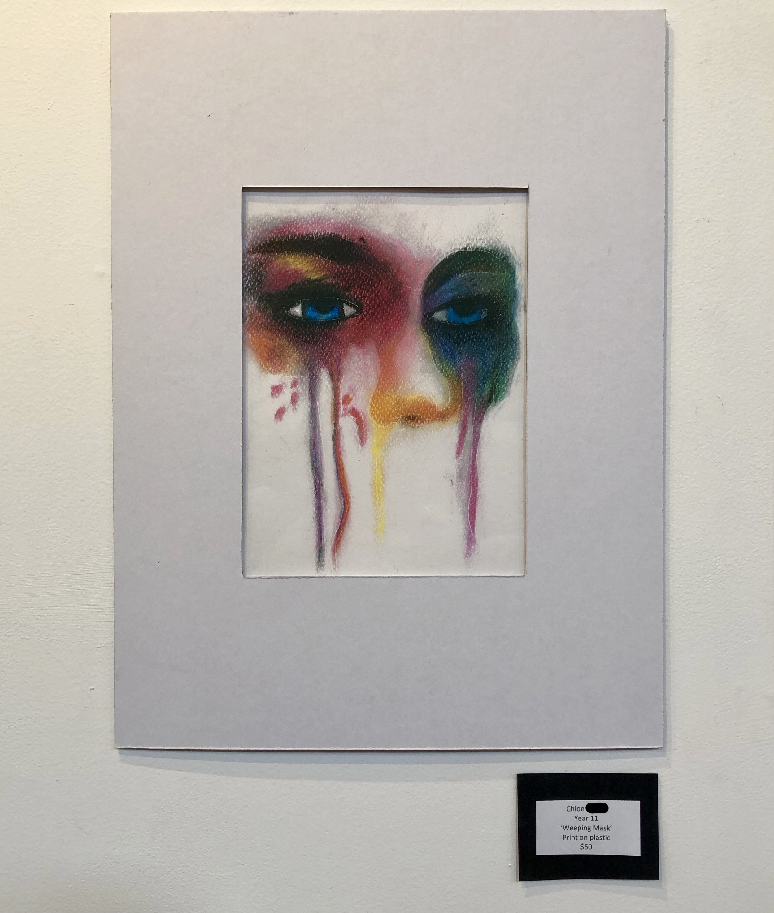 """Weeping Mask"" by Chloe (Year 11)"