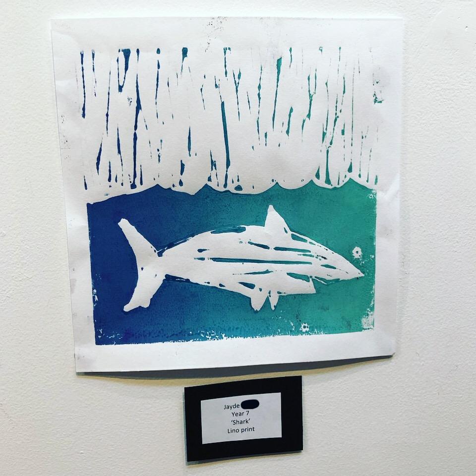 """Shark"" by Jayde (Year 7)"