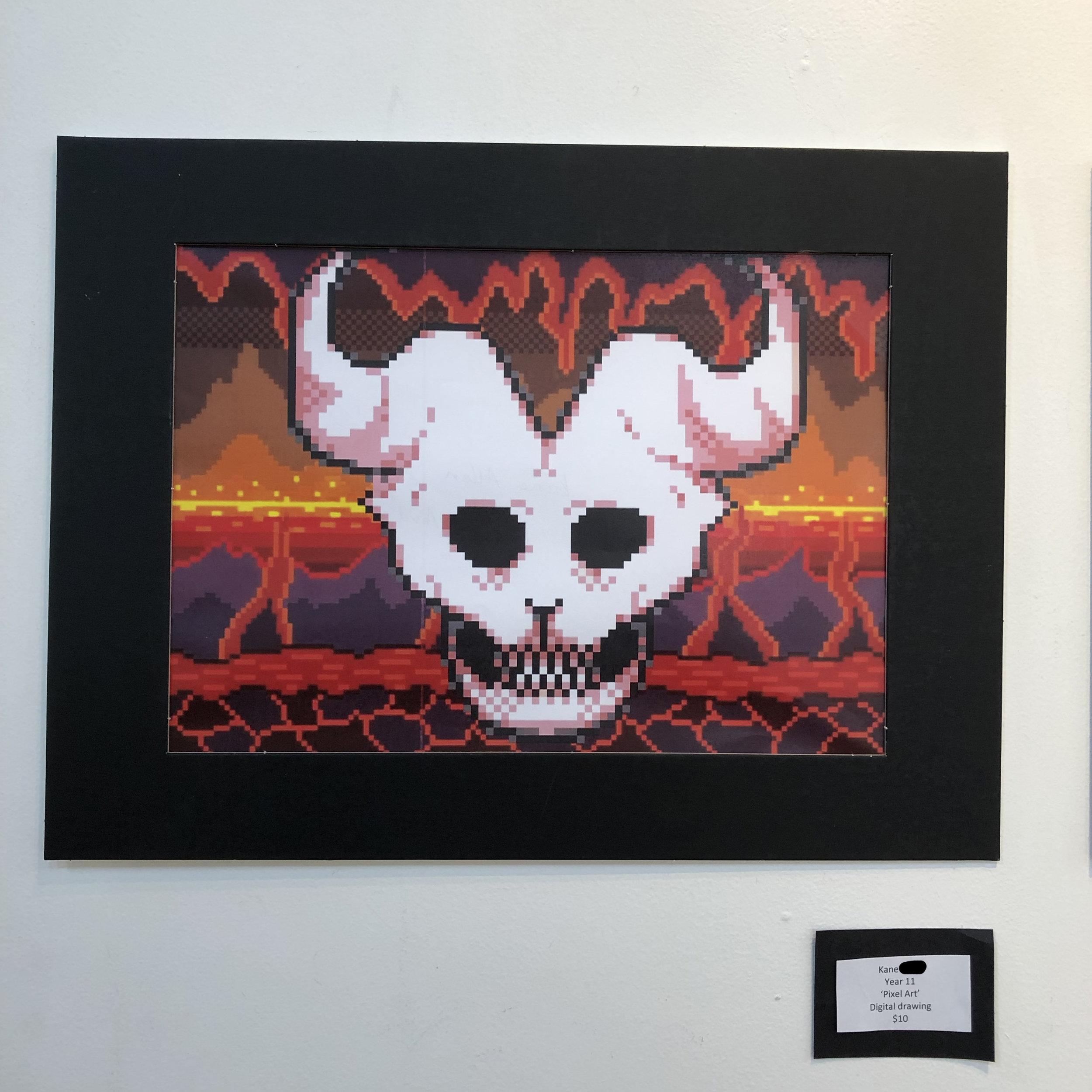 """Pixel art"" by Kane (Year 11)"
