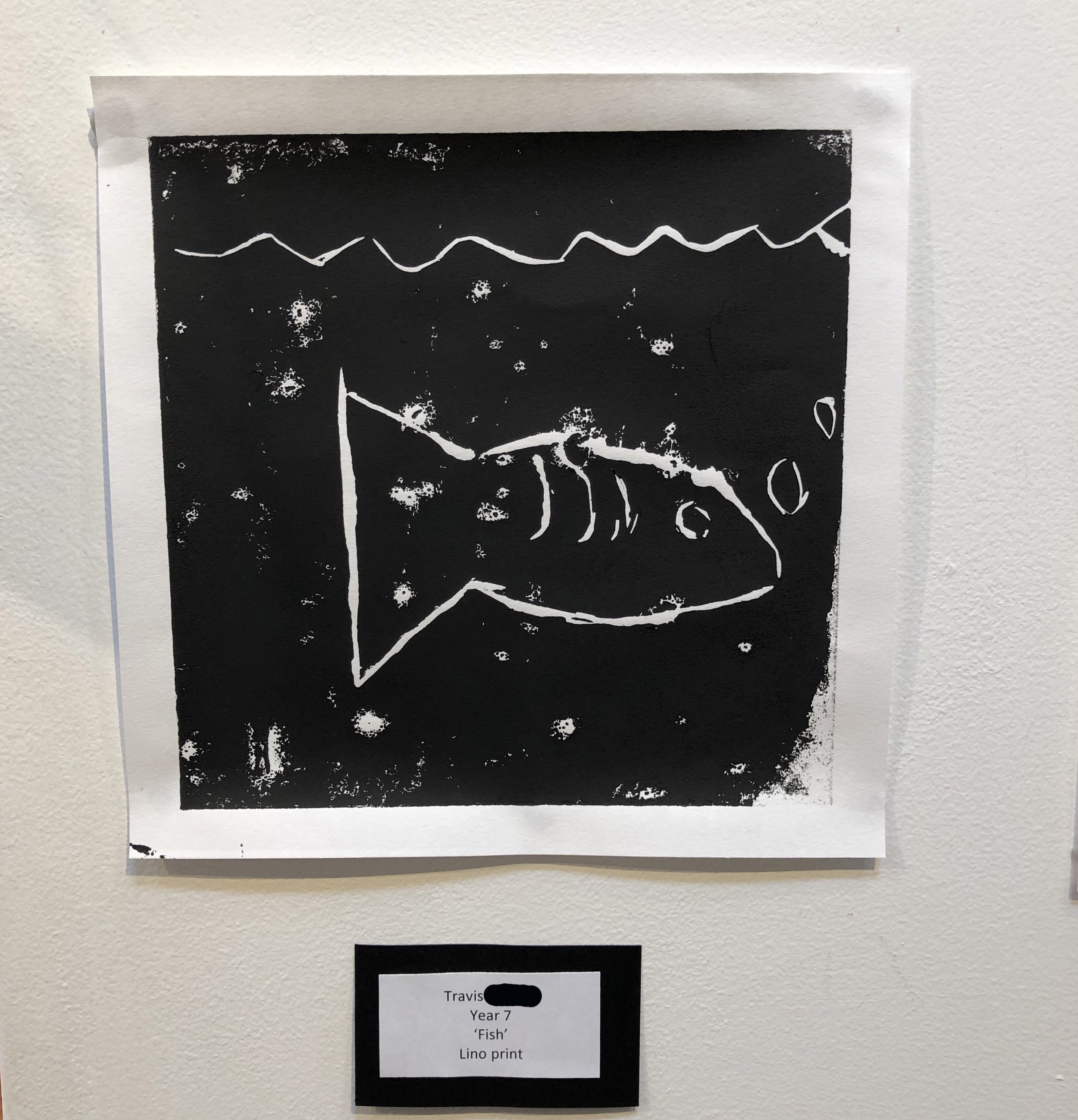 """""""Fish"""" by Travis (Year 7)"""