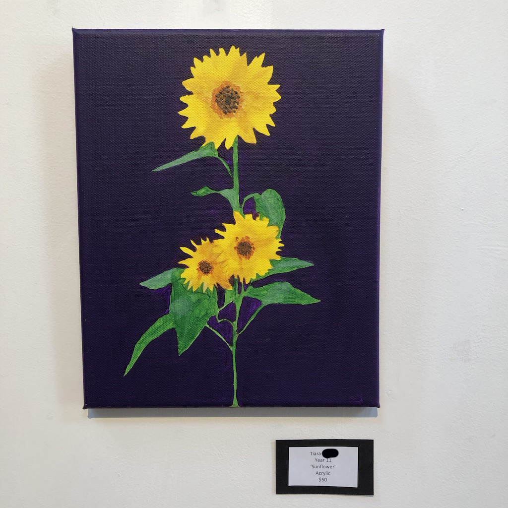 """Sunflower"" by Tiara (Year 11)"