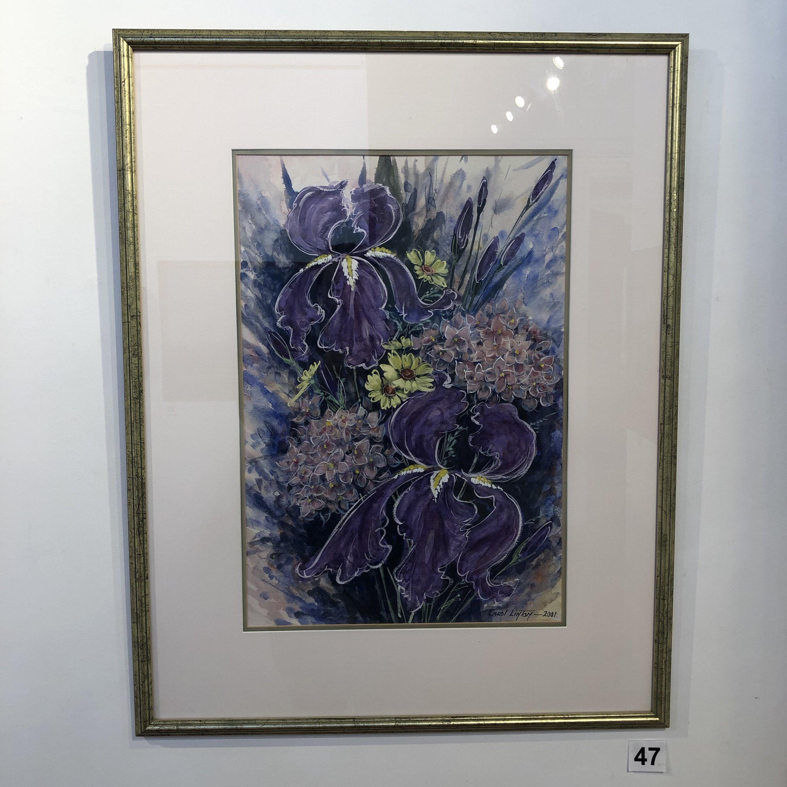 """Irises and Hydrangeas"" by Carol Linton"
