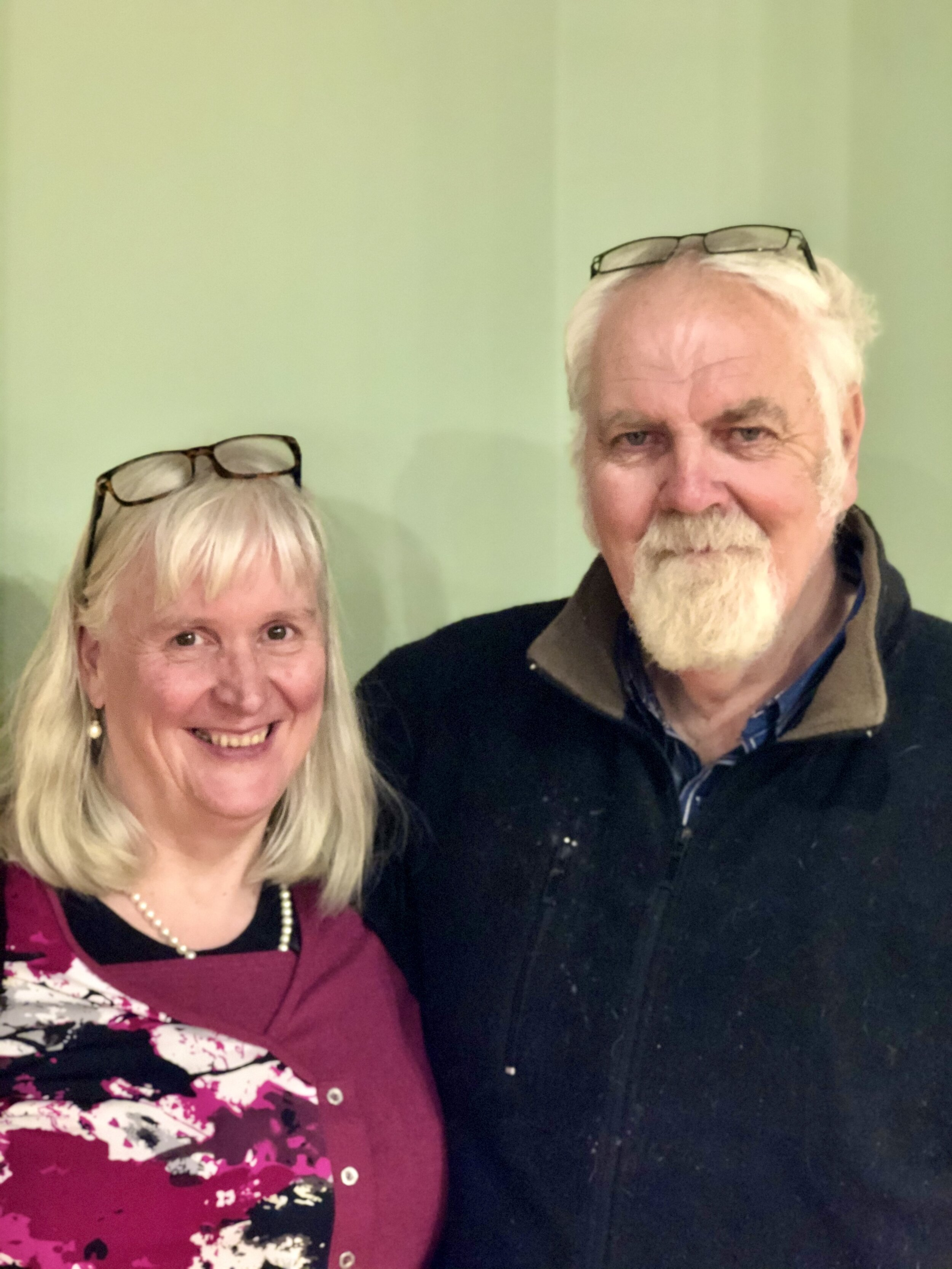 Artist Laurie Collins and his wife Marian