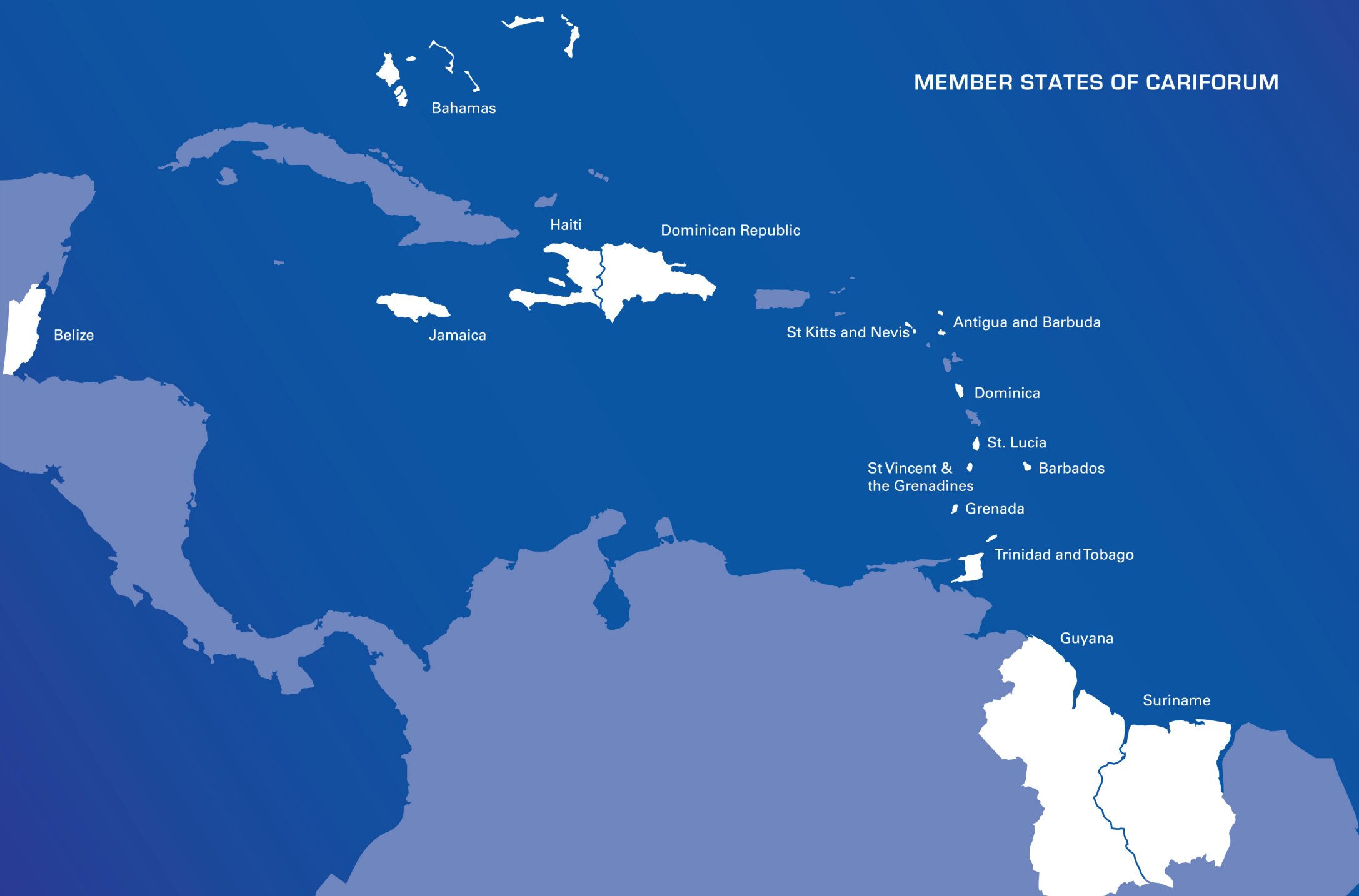 LOCATION OF THE ACTION: Antigua & Barbuda, The Bahamas, Barbados, Belize, Dominica, Dominican Republic, Grenada, Guyana, Haiti, Jamaica, Saint Lucia, Saint Kitts & Nevis, St. Vincent & the Grenadines, Suriname, and Trinidad and Tobago.