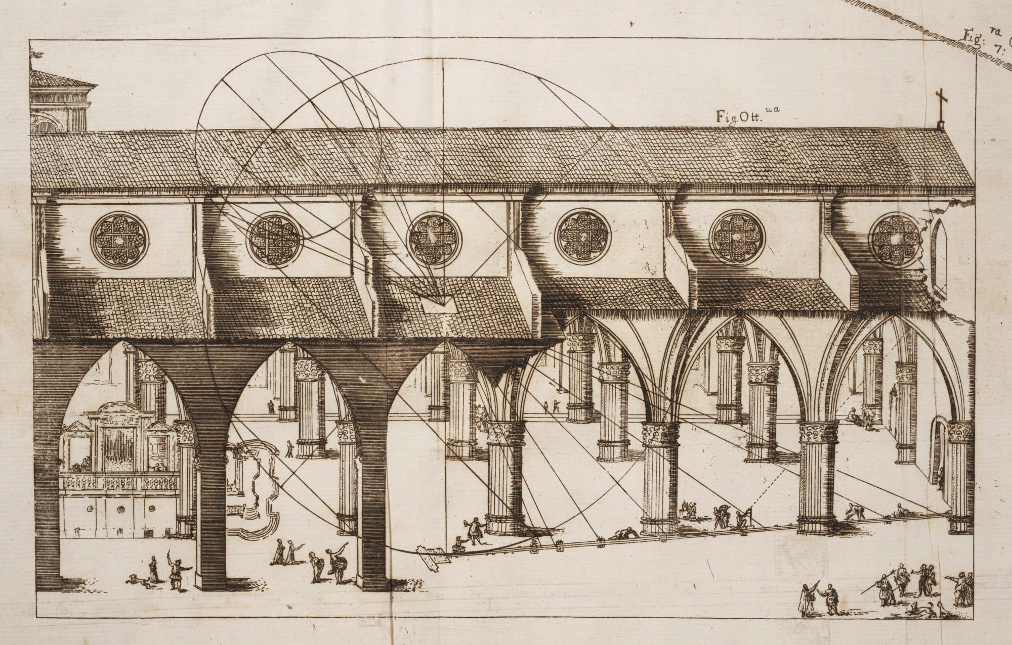 Casini's Meridian Line, Basilica of San Petronio, Bologna, Italy