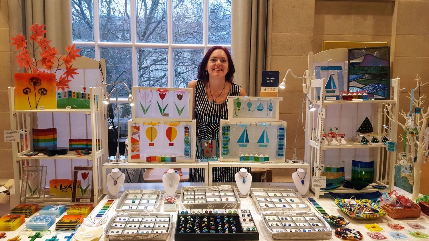 Eva Glass Design stall