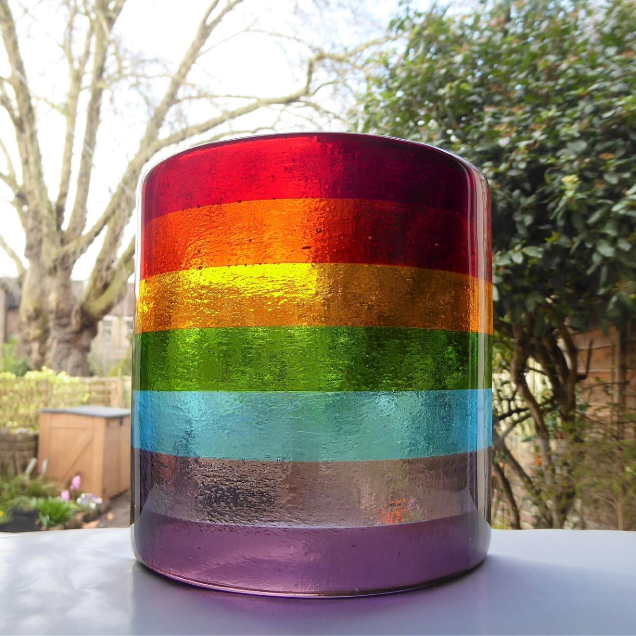 Rainbow window/candle lamp