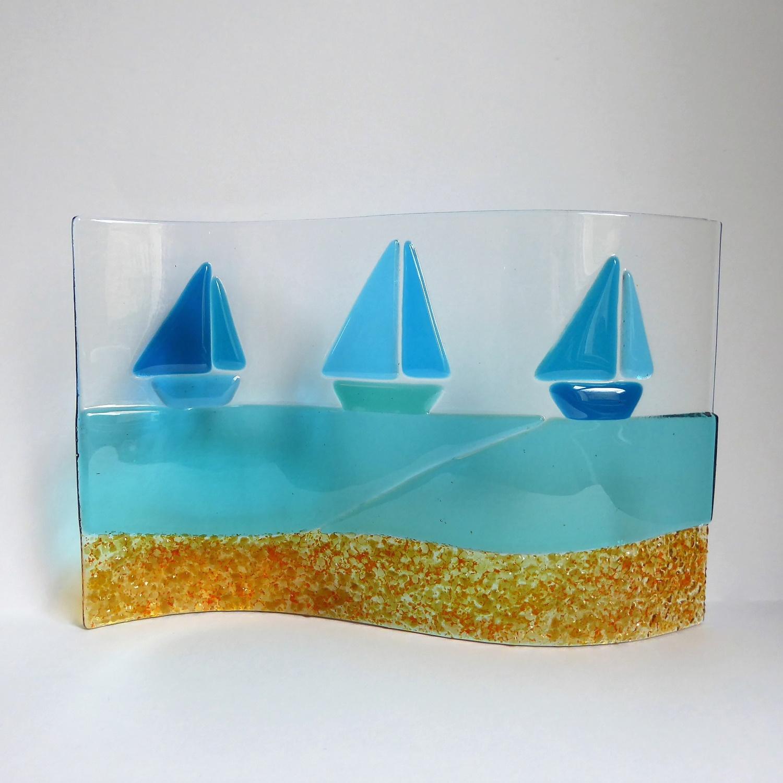 Seascape wave sculpture