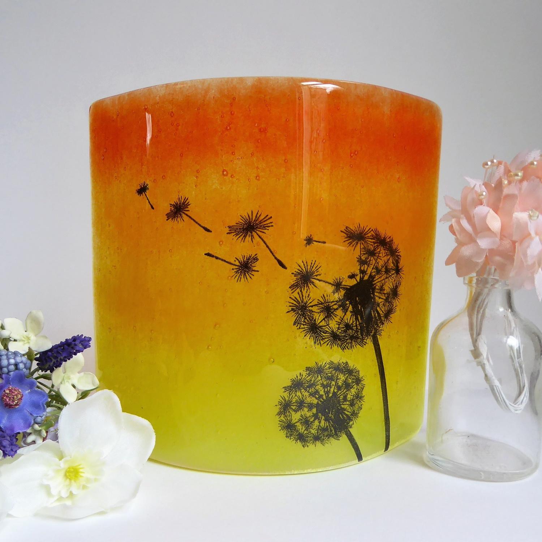 Dandelion window/candle lamp