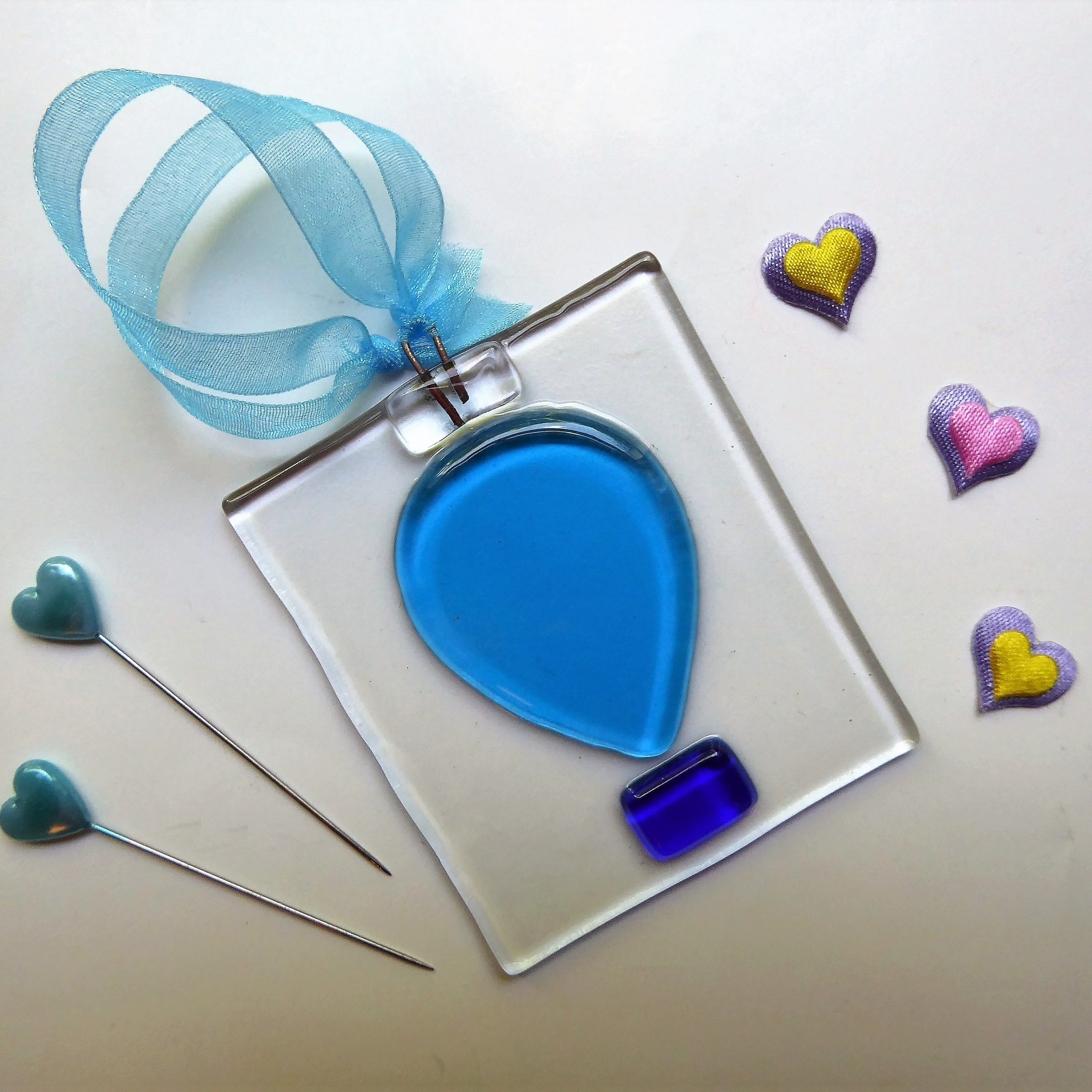 Blue balloon decoration