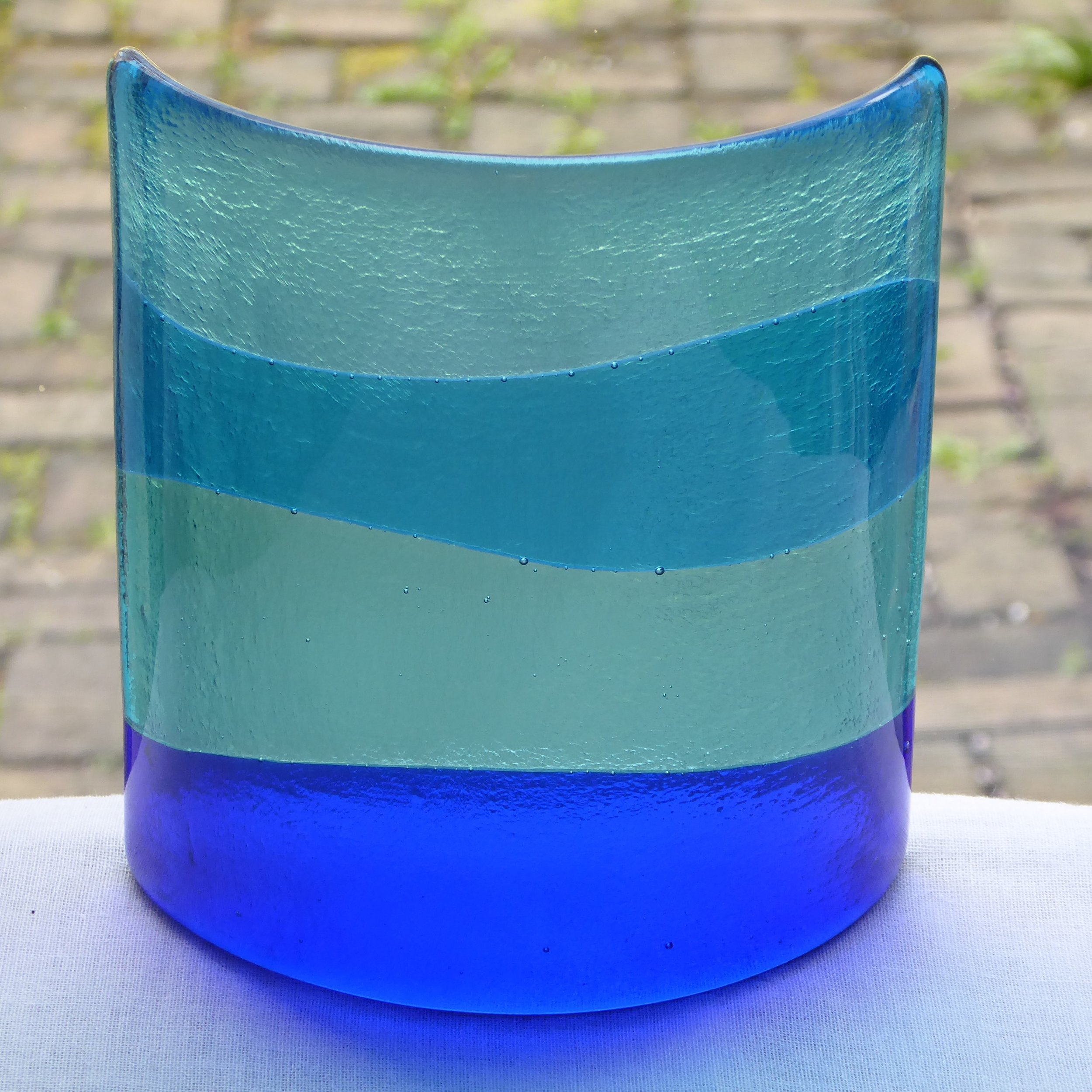 Blue window/candle lamp