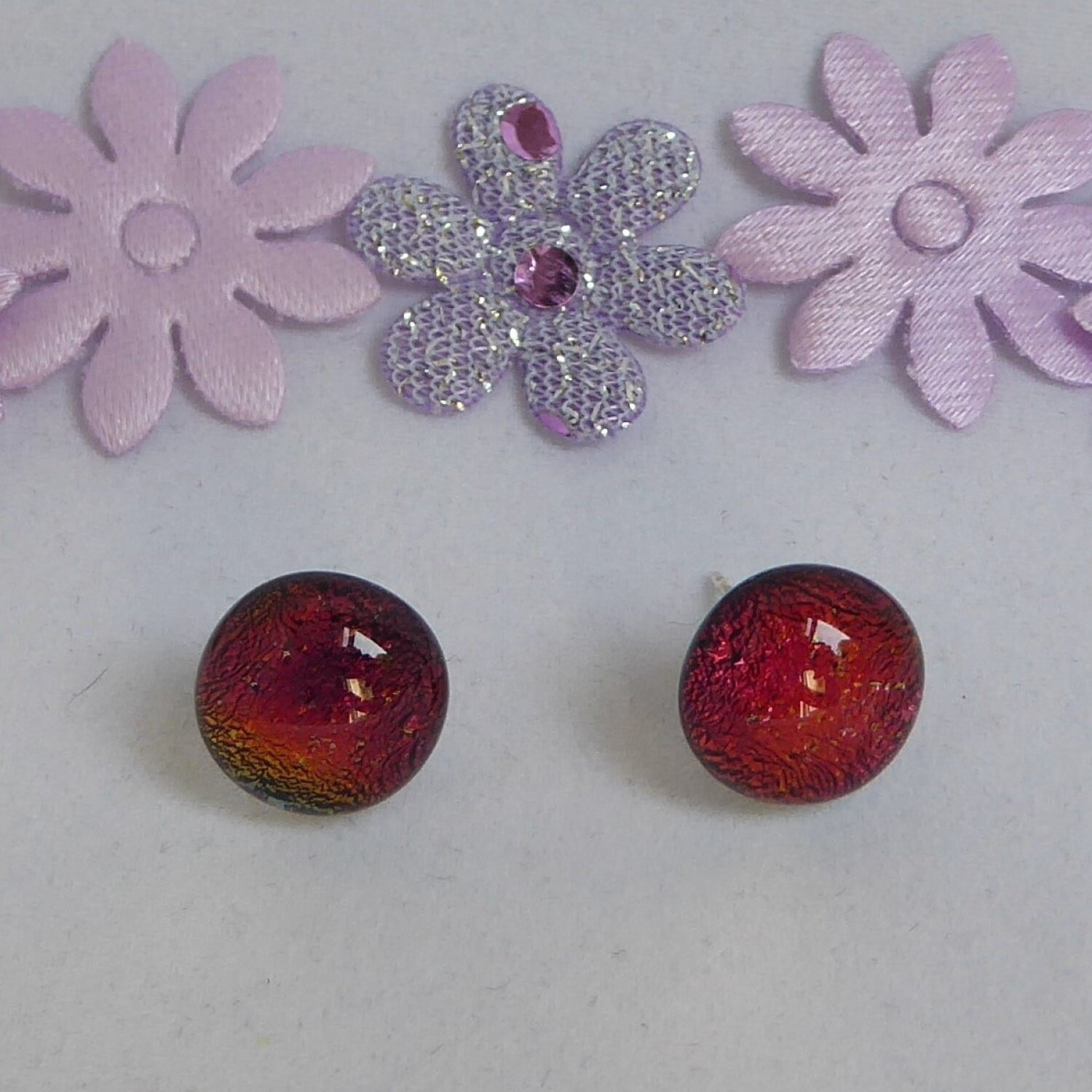 Candy apple red studs