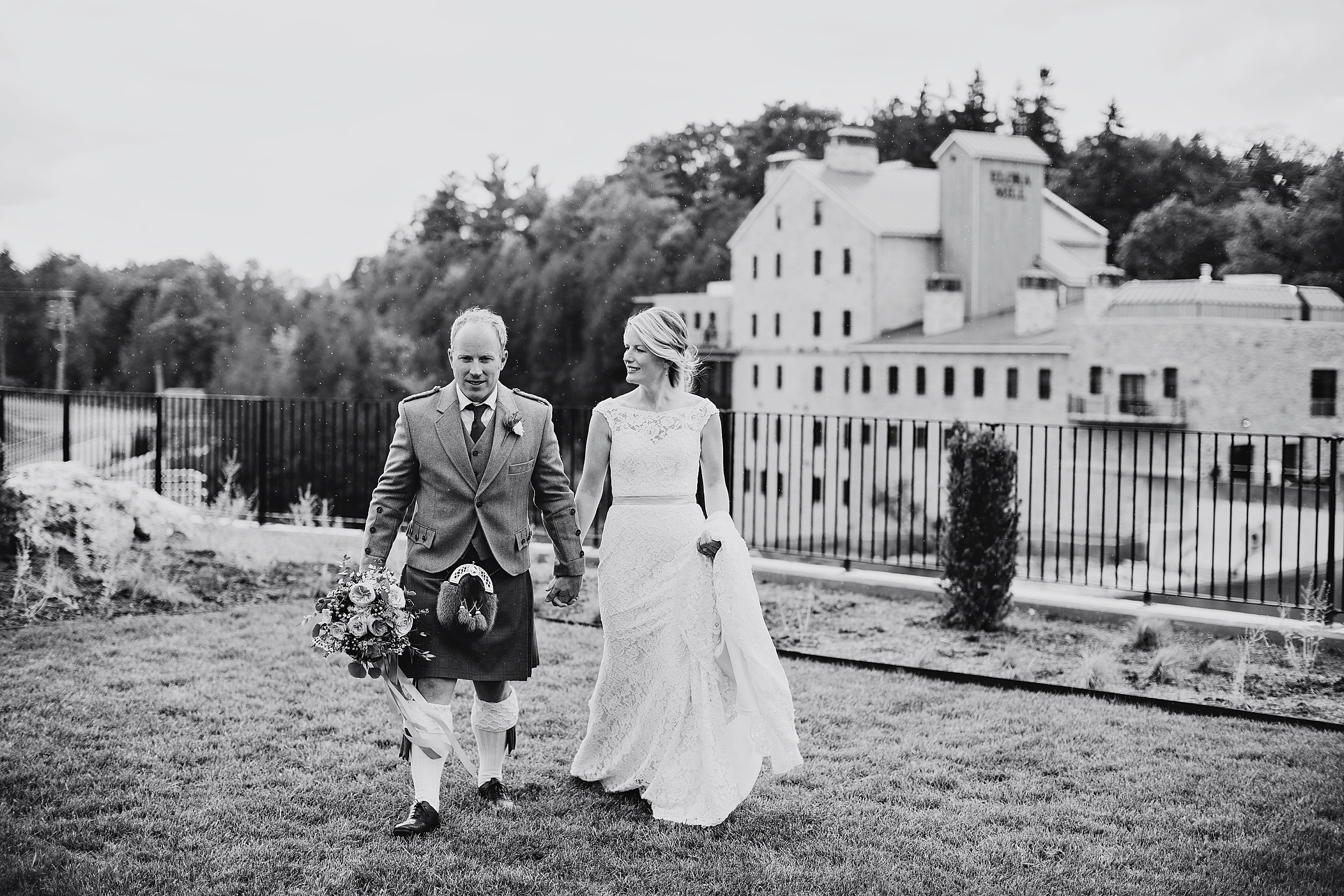 elora mill wedding summer kilt