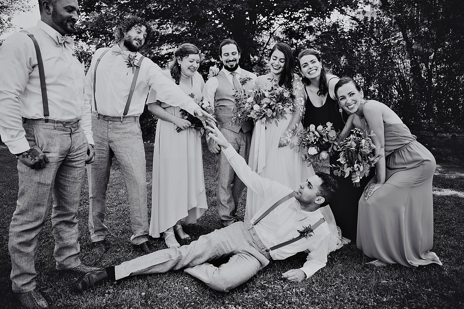 fun wedding party shot