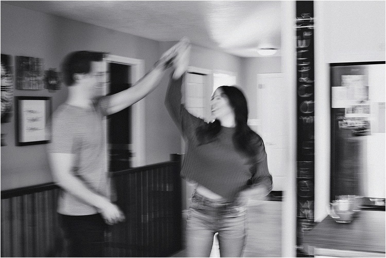 practicing first dance photos