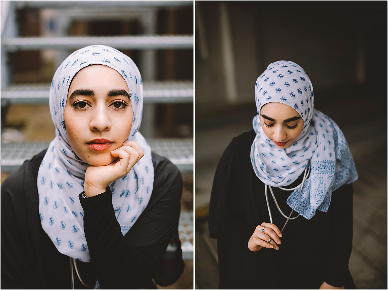portraits with headscarf
