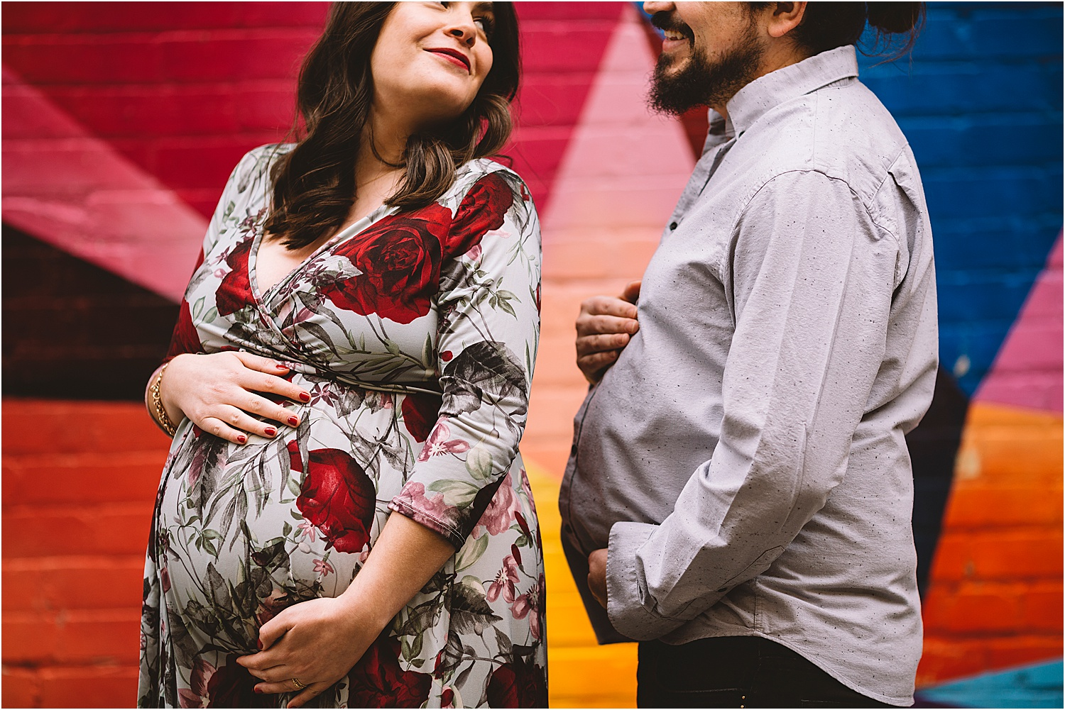 cute and fun maternity session kitchener