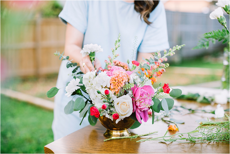Floral portrait session kitchener florist portraits