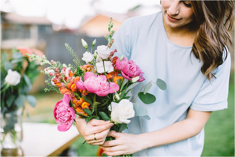 kitchener florist portrait session