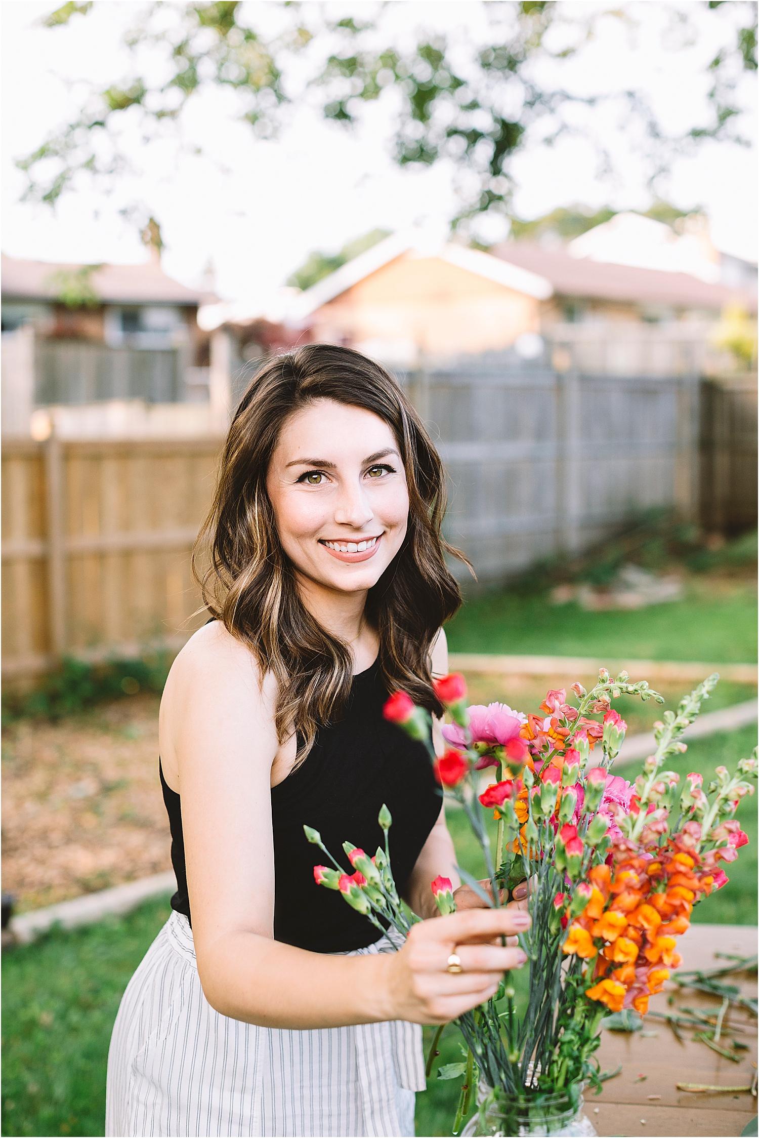 florist portrait session kitchener